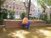 Restauración bancos Jardines Cristina