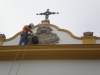 Restauración del arco de la Basílica de la Macarena
